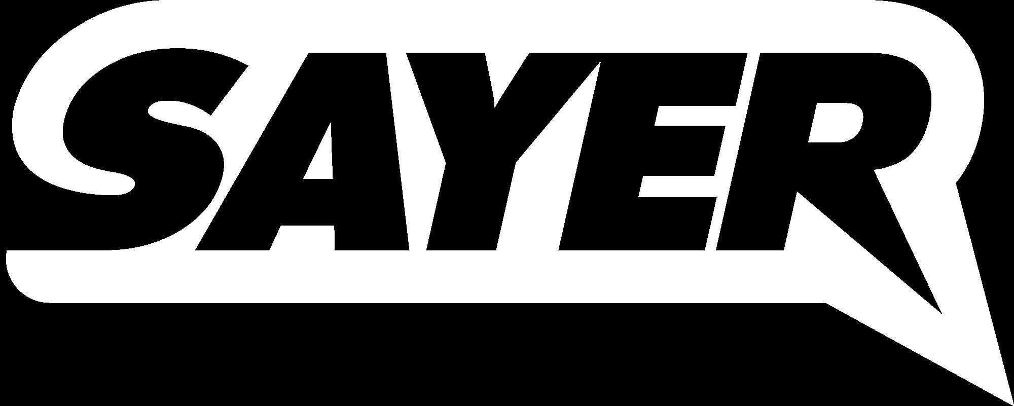 SAYER_LOGO_White